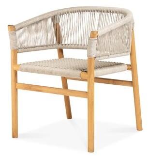 Bungalow Rose Randers Teak Patio Dining Chair