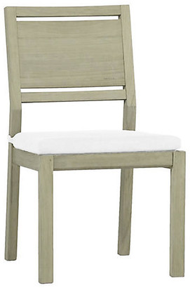 Ashland Outdoor Side Chair - Oyster Teak - SUMMER CLASSICS INC - frame, oyster teak; upholstery, white