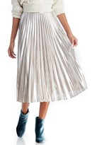 Sole Society Pleated Midi Skirt