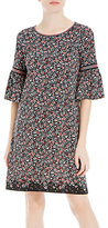 Max Studio Bell Sleeve Printed Dress, Black/Berry