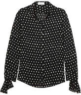 Saint Laurent Polka-dot Chiffon Shirt - Black