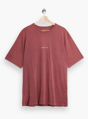 Topman Burgundy Berlin T-Shirt