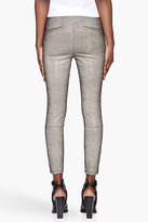 Helmut Lang Beige and black Rift Stretch Leather Leggings