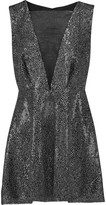 McQ by Alexander McQueen Silk organza-paneled embellished crepe mini dress