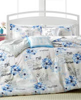enVogue Floral Postcard 5-Pc. Queen Reversible Comforter Set Bedding
