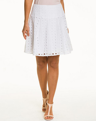 Le Château Eyelet Cotton Blend Skirt