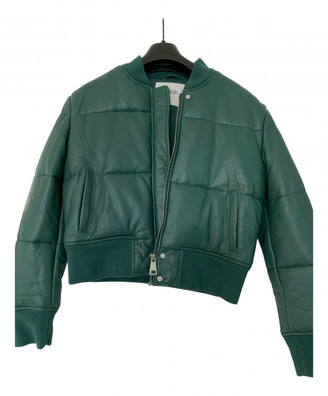 BA&SH Spring Summer 2020 Green Leather Coats