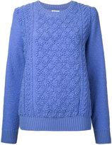 Coohem pile aran knit pullover