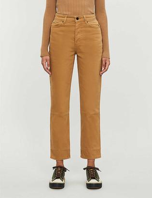 Topshop Boutique straight-leg high-rise jeans