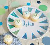 Pottery Barn Kids Blue Happy Birthday Personalized Plate
