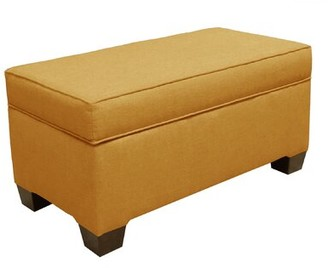 Skyline Furniture Fabric Flip Top Storage Bench Color: French Yellow
