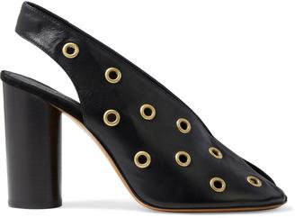 Isabel Marant Meirid Eyelet-embellished Leather Slingback Pumps