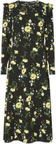 Dorothy Perkins **Tall Black Floral Print Midi Skater Dress