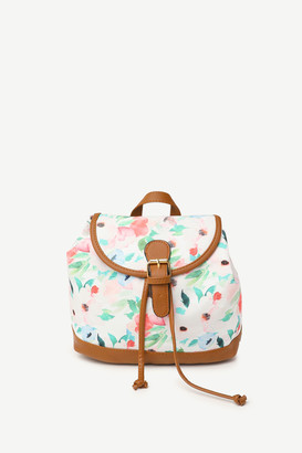 Ardene Small Floral Drawstring Backpack
