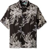Cubavera Men's Big and Tall Short Sleeve All Over Floral Print Woven Shirt