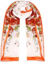 Yours Clothing YoursClothing Plus Size Womens Shawl Ladies Floral Print Woven Sheer Scarf