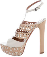 Alaia Laser Cut Leather Sandals