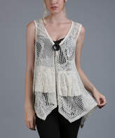 Lily Cream Sheer Patchwork Tunic - Plus Too