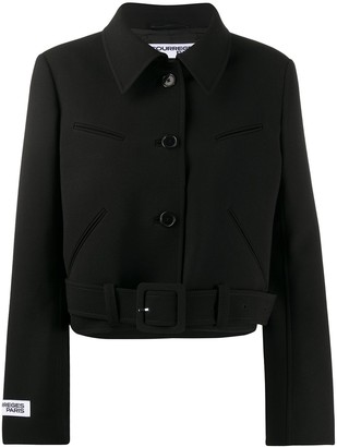Courreges Cropped Belted Jacket