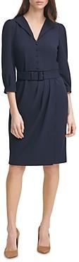 Karl Lagerfeld Paris Scuba Crepe Sheath Dress