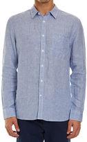 Sportscraft Long Sleeve Linen Mini Check Shirt