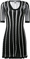 M Missoni stripe panel flared dress - women - Cotton/Polyamide/Polyester/Metallic Fibre - 40