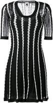M Missoni stripe panel flared dress - women - Cotton/Polyamide/Polyester/Metallic Fibre - 42