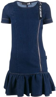 Love Moschino Short-Sleeved Denim Dress