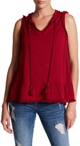 Democracy Ruffle Trim Flounce Hem Blouse