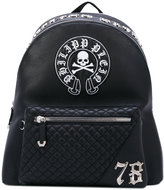 Philipp Plein skull patch backpack - men - Calf Leather - One Size