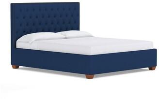 Apt2B Huntley Drive Tufted King Upholstered Bed in COBALT VELVET