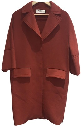 Marni Red Wool Coats