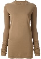 Rick Owens slim-fit longsleeved knitted blouse