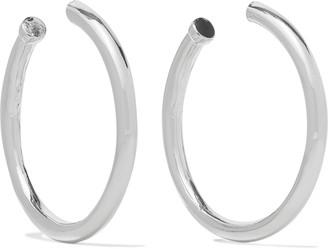 Kenneth Jay Lane Rhodium-plated Hoop Earrings