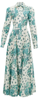 Evi Grintela Jasmine Floral-print Cotton Shirt Dress - Cream Print