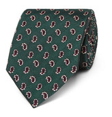 Dunhill 8cm Paisley Mulberry Silk-Jacquard Tie