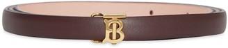 Burberry Reversible Monogram Motif Leather Wrap Belt