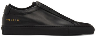 Common Projects Black Achilles Laceless Sneakers