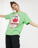 Love Moschino cherry print logo t-shirt