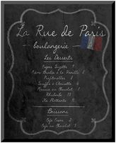 "Art.com French Menu II"" Paris Wall Art"