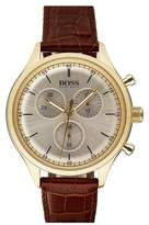 BOSS Companion Chronograph Leather Strap Watch, 42mm
