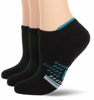 Hue Women's Tab Back No Show Liner Sport Socks with Cushion 3 Pair Pack