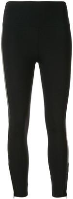 Lanston Sport Satin-Trimmed Jersey Leggings