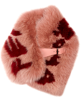 Fendi Logo-print fox-fur scarf