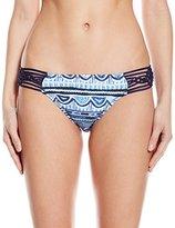 Nanette Lepore Women's Santorini Scallop Charmer Bikini Bottom