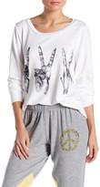 Lauren Moshi Long Sleeve Graphic Pullover