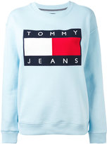 Tommy Jeans logo patch sweatshirt - women - Cotton/Polyester - XS