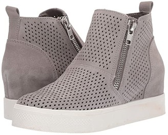 Steve Madden Wedgie-P Sneaker (Light Grey Suede) Women's Shoes