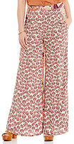 Free People In The Mix Printed Wide Leg Pant