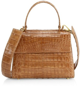 Nancy Gonzalez Small Lexi Crocodile Top Handle Bag
